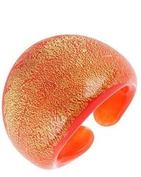Murano Antica Murrina Laguna Orange Gold Glass Ring
