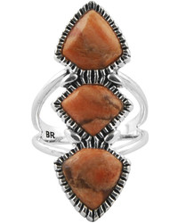 Artsmith By Barse Art Smith By Barse Orange Sponge Coral Silver Over Brass Statet Ring