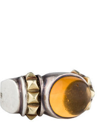 Lagos Citrine Caviar Ring