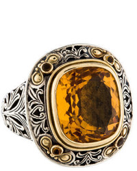 Konstantino Citrine Ring
