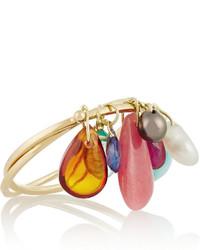 Inez And Vinoodh 18 Karat Gold Multi Stone Ring