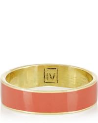 Inez And Vinoodh Enameled 18 Karat Gold Ring