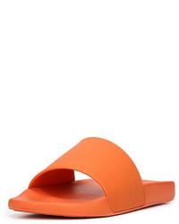 Orange Rubber Sandals
