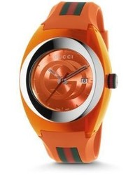 Sync stainless steel rubber watch medium 612714