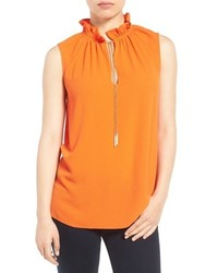 MICHAEL Michael Kors Michl Michl Kors Ruffle Chain Neck Top