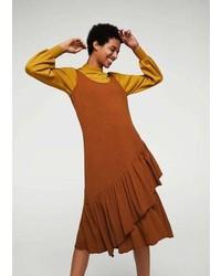 Mango Ruffled Midi Dress
