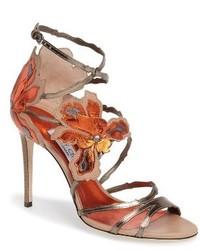 Jimmy Choo Lolita Strappy Flower Sandal