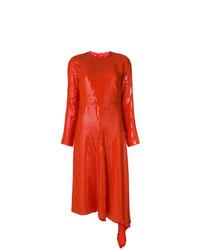 MSGM Asymmetric Hem Sequinned Dress