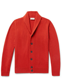 John Smedley Shawl Collar Wool And Cashmere Blend Cardigan