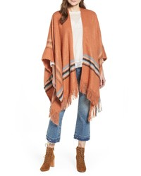 Free People Stripe Fringe Ruana