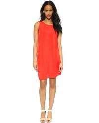 Pleated shift dress medium 213172