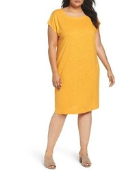 Plus size hemp organic square neck shift dress medium 3778252