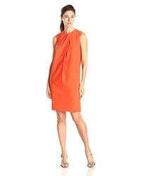 Sleeveless pleat front shift dress medium 213191