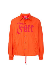 Orange Shirt Jacket