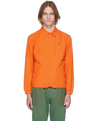 Polo Ralph Lauren Orange Poplin Coach Jacket