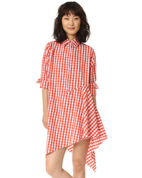 Asymmetrical raw hem shirtdress medium 794667