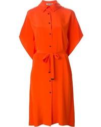 Tie waist shirt dress medium 381742