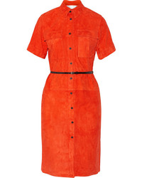 Victoria Beckham Victoria Suede Shirt Dress