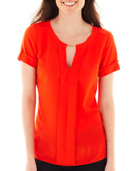 Orange short sleeve blouse original 1291659