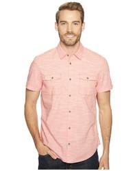 Calvin Klein Jeans Cross Hatch Slub Button Down Shirt Short Sleeve Button Up
