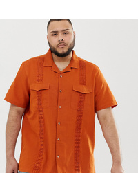 0af46dc97a3a Men's Orange Short Sleeve Shirts from Asos | Men's Fashion ...