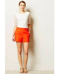 Anthropologie Cartonnier Scalloped Sailor Shorts