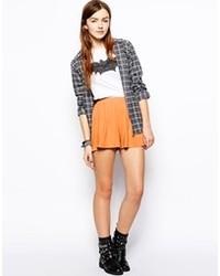 Asos Culotte Shorts Orange