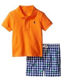Ralph Lauren Baby Basic Mesh Gingham Shorts Set Boys Active Sets