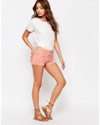 Blend She Blendshe Pastel Shorts In Peach