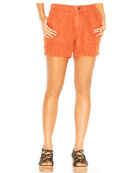 Free People Mid Rise Linen Double Cloth Mountaineer Shorts