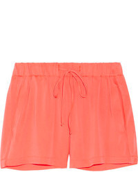 Milly Neon Stretch Silk Shorts