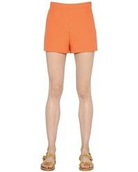 Valentino Wool Silk Crepe Shorts
