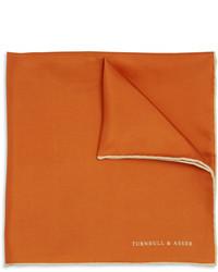 Orange Silk Pocket Square