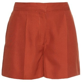 Valentino Structured Shantung Silk Shorts