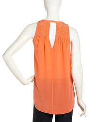 Rebecca Taylor Silk Blouse Orange And Pink 60