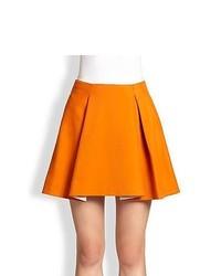 3.1 Phillip Lim Irregular Pleated Skirt Orange