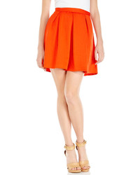 Orange textured skater skirt medium 297986