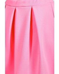 1b71704b6e Boohoo Tianna Neon Box Pleat Skater Skirt, $18 | BooHoo | Lookastic.com