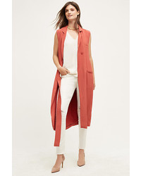 Orange Sleeveless Coat