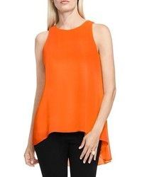 Vince Camuto Sleeveless Crepe Highlow Top