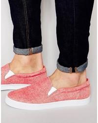 Orange Slip-on Sneakers