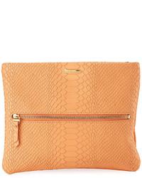 GiGi New York Snake Embossed Crossbody Clutch Bag Orange