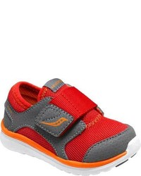 Saucony Infanttoddler Boys Baby Kineta Ac Sneaker Blackcitronred Athletic Shoes