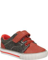 Clarks Infanttoddler Boys Juggle Act Sneaker Burnt Orange Leather Sneakers