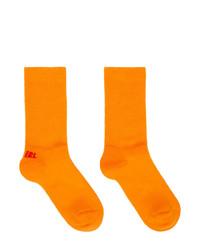 ERL Orange And Red Logo Socks