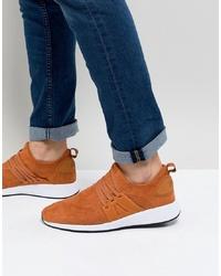 Orange Suede Athletic Shoes