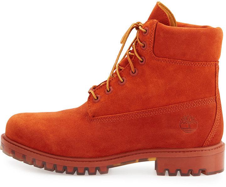2bd83268bdf Timberland Autumn Leaf 6 Premium Waterproof Hiking Boot Orange, $200    Neiman Marcus   Lookastic.com