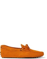 Orange Suede Driving Shoes