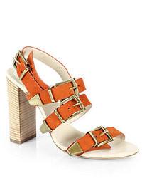 Chloé Chloe Suede Buckle Strap Sandals