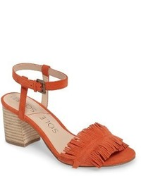 Sepia fringe sandal medium 5255216